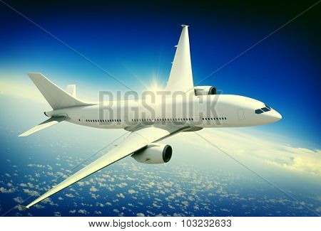 Aircraft Midair Public Transportation Flying concept