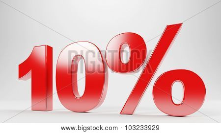 10 percent discount offer as special sale for advertising (3D Rendering)