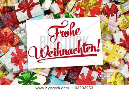Card in German saying
