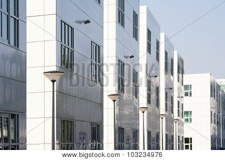 White Office Buildings