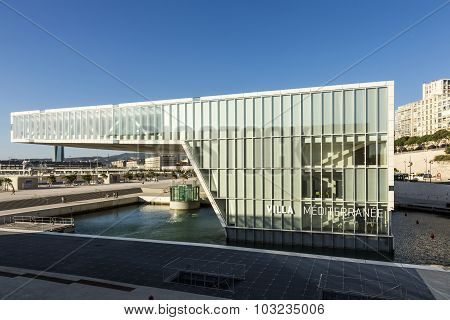 The Modern Building Of Museum Of European And Mediterranean Civilizations With Reflection