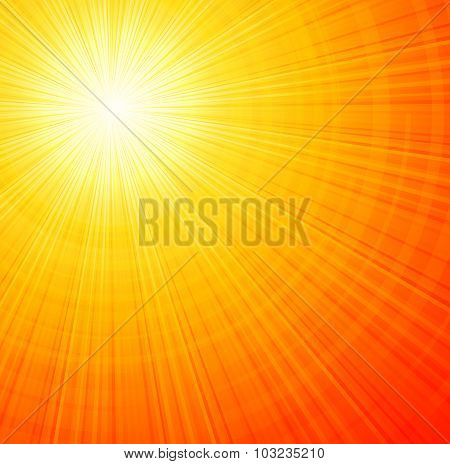 Sunbeams abstract vector illustration background