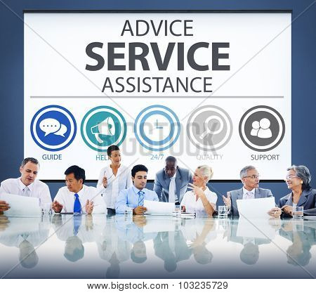 Advice Service Assistance Customer Care Support Concept