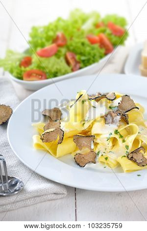 Pasta with truffles