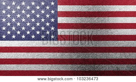 Flag of the United States of America, USA flag painted on glass