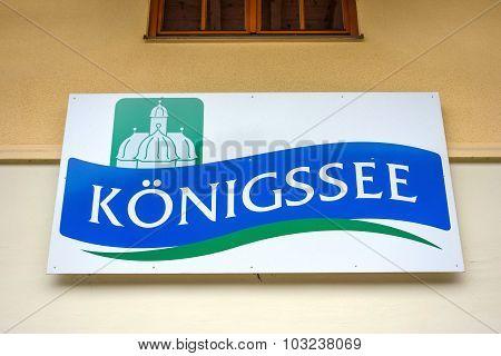 Logo / Sign Koenigssee