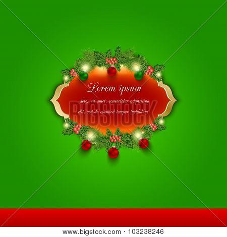 Christmas vector greeting and invitation card.