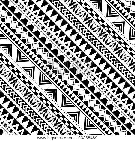 Diagonal Geometric Pattern In Native Americans
