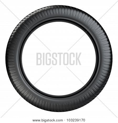 Rubber Tire Wheel Front View.