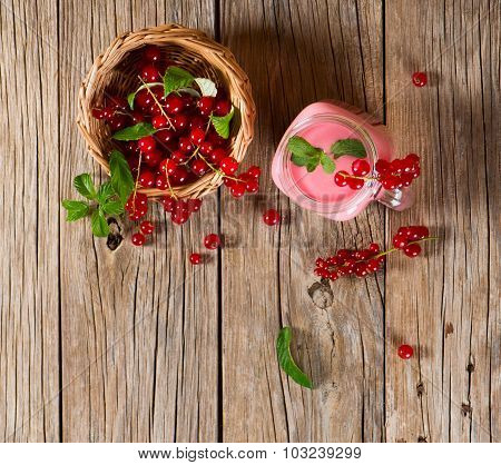 Red Currant Smoothie Above View