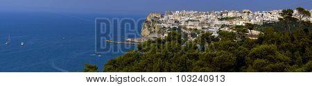 Beautiful landscape of Peschici in Apulia Gargano