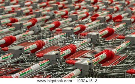 Ashan Shopping Trolleys Russia