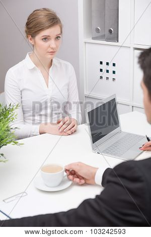 Woman On Interview