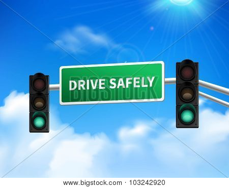 Drive safely memorial sign sticker icon