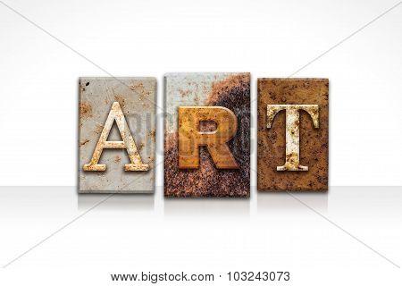 Art Letterpress Concept Isolated On White