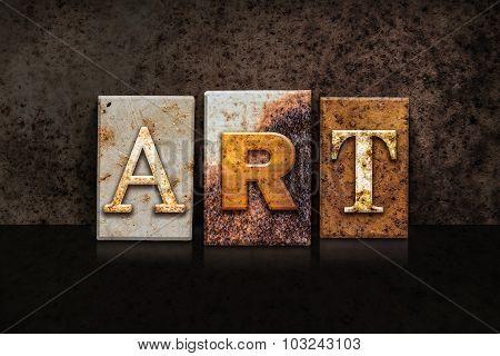 Art Letterpress Concept On Dark Background