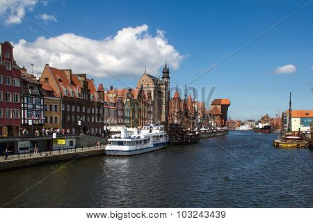 Poland, Gdansk - Quay of the Old Town