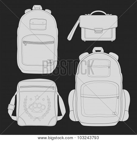 4 fashionable man bags chalk