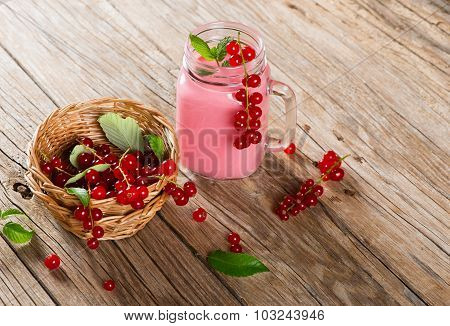 Drink Smoothie Of Red Currant