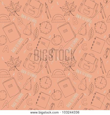 Hand drawn school symbols