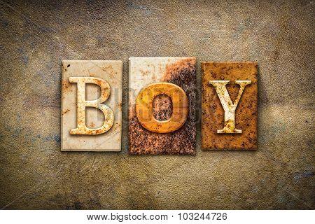 Boy Concept Letterpress Leather Theme
