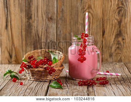 Pink Berry Milkshake Of Red Currant