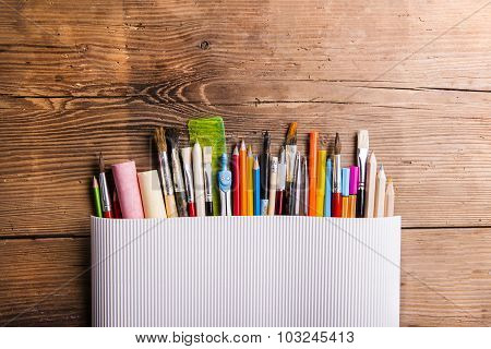 Back to school composition