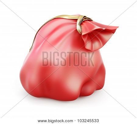 Christmas Red Bag With Gifts