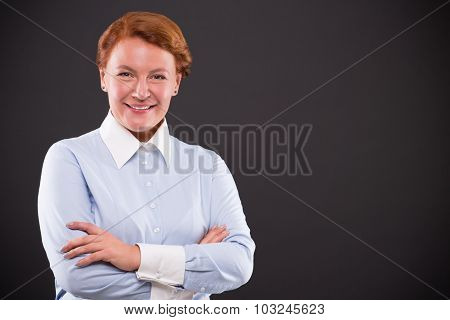 Smiling businesslady