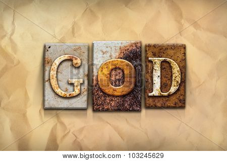 God Concept Rusted Metal Type