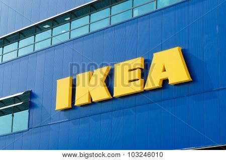 Gwangmyeong, Korea - September 14, 2015: Ikea Logo