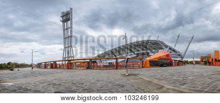 Jeju-do, Korea - April 13, 2015: 2002 World Cup Stadium In Jeju Island.