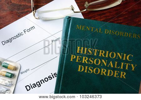 Histrionic personality disorder concept.