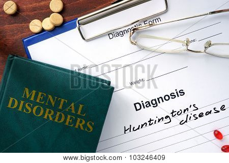 Huntington's disease concept.