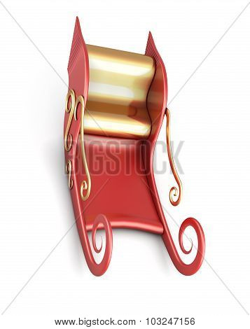 Sleigh Of Santa Claus Isolated On White Background