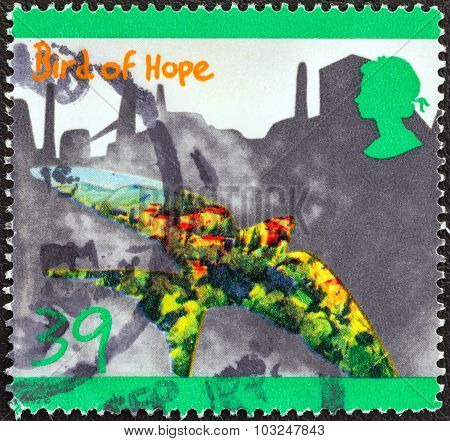 UNITED KINGDOM - CIRCA 1992: A stamp printed in United Kingdom shows bird of hope