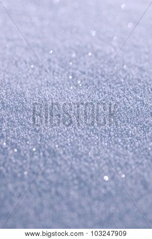 The texture of the snow surface