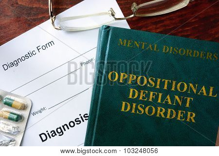 Oppositional defiant disorder concept.