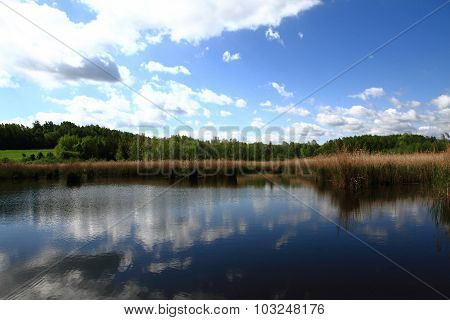 Czech Lake And The Blue Sky