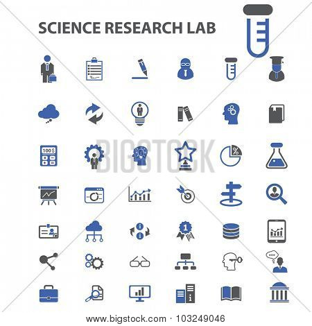 science, research icons