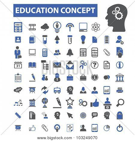 education concept icons