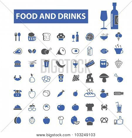 food, drinks icons