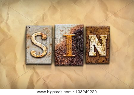 Sin Concept Rusted Metal Type