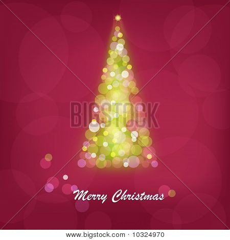 Abstract Bright Christmas Tree