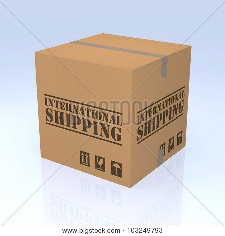 International Shipping Cardboard Box