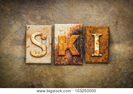 Ski Concept Letterpress Leather Theme