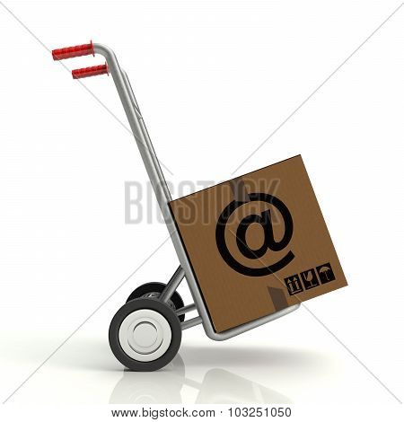 Hand Truck With E-mail
