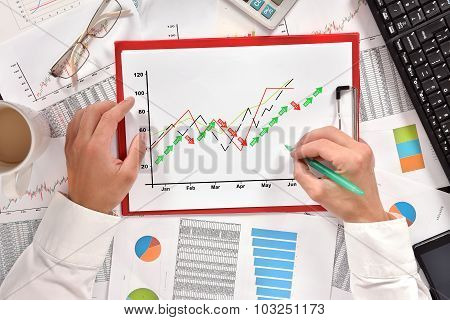 Hand Drawing  Stock Chart