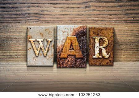 War Concept Letterpress Theme
