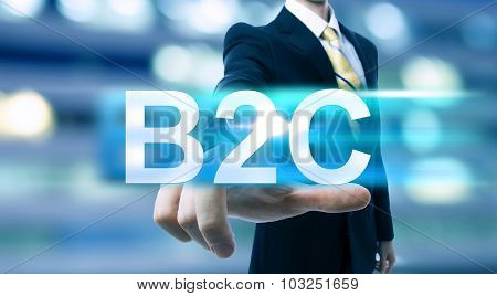 Businessman Pointing At B2C